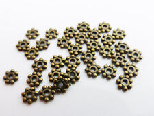 200 x Tibetan Style Daisy Spacer Beads 4mm Antique Bronze LF NF (MBX0027)