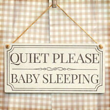Quiet Please Baby Sleeping - Rustic Vintage Style Keep Quiet New Baby Gift Sign