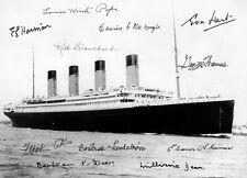 ÜBERLEBENDE der TITANIC - Repro-Autogramm, 20x27 cm, survivors, Millvina Dean,..