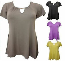 Unbranded Viscose Keyhole Plus Size Tops & Shirts for Women