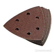 Silverline hook & loop triangle sanding sheets pack of 10 size 90mm 120 grit
