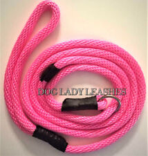 "SLIP LEAD/LEASH-3/8"" X 6' PINK ROPE-  DOGS UP TO 65LBS NEW-FREE SHIPPING (208)"