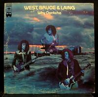 West, Bruce & Laing - Why Dontcha LP VG+ KC 31929 Windfall Records 1st 1972 USA