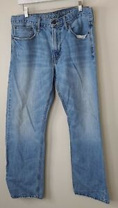 Men's American Eagle Jeans 34x32 Relaxed Straight Light Wash Denim