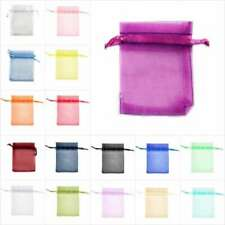 25pcs Organza Gift Bags Jewelry Candy Packing Wedding Party Pouch 7Size 26 Color