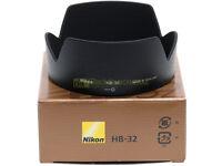 Nikon paraluce HB-32 per AF-S 18/70mm 18/105mm VR 18/135mm 18/140mm VR ORIGINALE