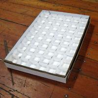 "1.5"" deep Mineral Specimen White Flats, set of 50 Tops & 50 Bottoms -  Flat004"