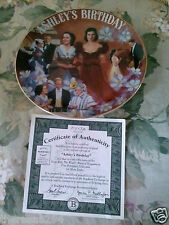 """GONE WITH THE WIND BRADFORD """"ASHLEY'S BIRTHDAY"""" MUSICAL PLATE-5TH ISSUE"""