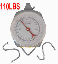 110LBS HANG UP SPRING SCALE DIAL WEIGHT ACCURATE HANGING SCALE PRODUCE FOOD
