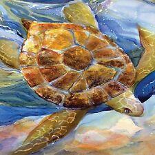 Ocean Life Sea Turtle Image Coasters Set Of 4 Rubber Backed
