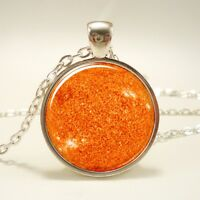 Sun Necklace, Galaxy Pendant, Universe Jewelry (1170S1IN)