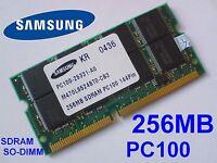 256MB PC100 SDRAM CL2 SO-DIMM 144pin 100MHz NOTEBOOK LAPTOP SODIMM RAM SPEICHER