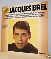 33 tours Jacques BREL LP Vinyle DISQUE D'OR Vol. 1 - IMPACT 6886109 F Reduit