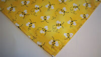 Dog Bandana/Scarf  Tie On/Slide On Bumblebees Custom Made by Linda XS S M L