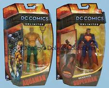 DC COMICS UNLIMITED INJUSTICE Gods Among Us SUPERMAN & AQUAMAN Set_Matty_SEALED