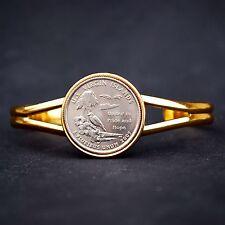 2009 Virgin Islands State 25c Gold Plated Cuff Bracelet - DC & US Territories