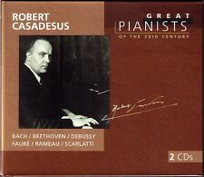 Robert CASADESUS: GREAT PIANISTS OF THE 20TH CENTURY 2CD  Bach Faure Rameau NEU