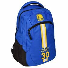 Stephen Steph Curry #30 Golden St Warriors Backpack gym Book Bag NBA ACTION Blue