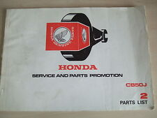 Honda CB50J orginal Honda dealer parts book No.2 1314903