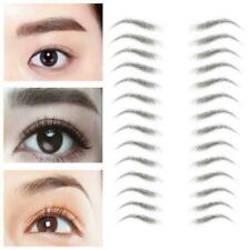 3D Hair-like Eyebrow Tattoo Sticker False Stick-On Makeup Eyebrows Brown R9Q4
