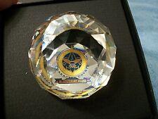 Swarovski Crystal Boy Scout of America 90th Anniv. 1910-2000 Round Paperweight
