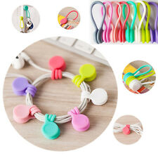9PCS Hot Multifunction Magnet Earphone Cord Winder Cable Holder Organizer Clips