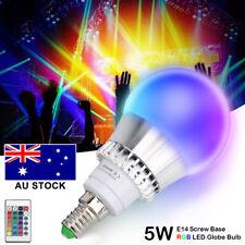 5w RGB Colors Change LED Light Bulb E14 Globe Lamp IR Remote Control Ac85-265v