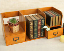 Drawer Cabinet Vintage Wood Jewellery Box Chest Storage Desk Organiser Brown