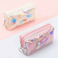Sequin Laser Bag Pouch Pen Pencil Stationery Storage Zipper Case Makeup Bag LD