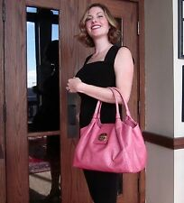 Kate Spade Anisha Bexley PINK OSTRICH EMBOSSED Leather Tote STEVIE HANDBAG
