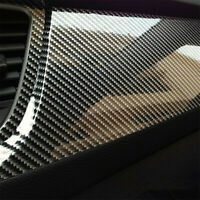 Auto Accessories 7D Glossy Carbon Fiber Vinyl Film Car Interior Wrap Stickers UK