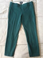 J.Crew Green Petite Minnie Pant In Stretch Twill Size 0P MSRP $89.50 Style 24645