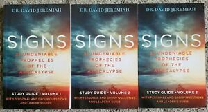 Signs Study Guide Volumes 1-3 By Dr David Jeremiah - Paperback books only