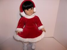 "Red Velour Ice Skating Outfit Doll Clothes made for 18"" American Girl Doll New"