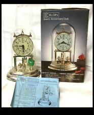 Vintage Elgin Quartz Dome Anniversary Mantel Clock  made in Japan