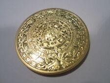 MAYA KALENDER - Azteken / Sonnenscheibe / Pyramiden Münze Gold Bitcoin poliert