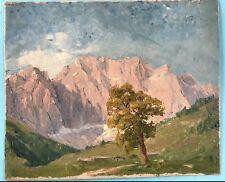 Ölgemälde Alpen Landschaft Großer Ahornboden Karwendelgebirge Margarethe Hamm~25