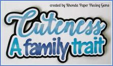 CUTENESS FAMILY BOY title paper piecing Premade Scrapbook Pages album by Rhonda