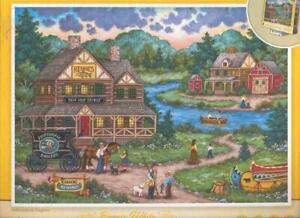Bonnie White MasterPieces Puzzle 2000 Pc Adirondack Anglers NIB