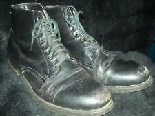 Vtg 40 50S Men 10.5 Weinbrenner Leather Motorcycle Pacific Work Cork Sole Boots
