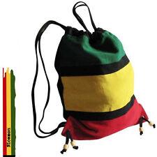 """Rasta Duffle Square Sack Ez Backpack Back Pack Reggae Marley Jamaica 15""""x15"""""""