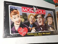 MONOPOLY I Love Lucy California Here We Come COLLECTOR ED. Incl/Coll Tokens 2005