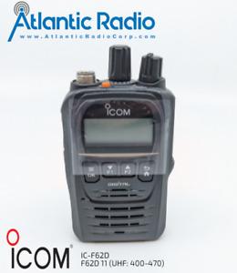 Icom IC-F62D UHF (400-470) Compact Waterproof Digital IDAS Portable Bluetooth