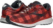 Brooks Women's Ghost 12 Running Shoe, Red/Ebony/Grey, 8.5 B(M) US