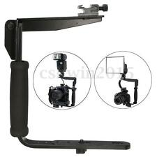 Universal Camera Arm Quick Flip Flash Bracket Grip Holder For Nikon Canon DSLR