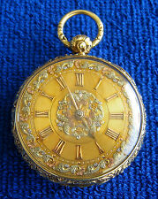 M.I. TOBIAS GOLD CHAIN DRIVEN POCKET WATCH LIVERPOOL RARE