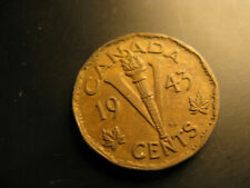Canada 1943 Tombac WWII Victory Memorial 5 Cent Coin.