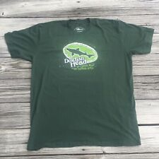 Dogfish Head Craft Brewed Beer Green Off-Centered Ale T Shirt 2 XL