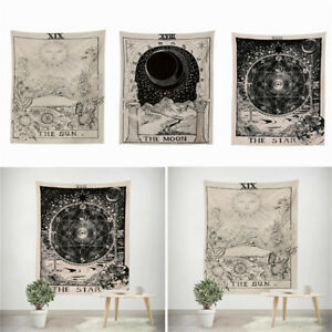 Tarot Tapestry Wall Hanging Magical Moon Sun Bedspread Large Tapestries Cover