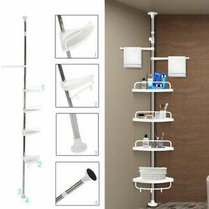 4 Tier Telescopic Bathroom Corner Shelf Rack Shower Caddy Storage Bath Storage